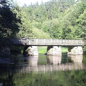 1280px kusebacka bro över säveån i floda  den 15 juli 2006